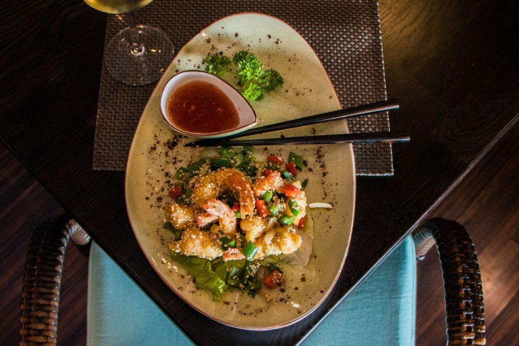 Five Spice & Pepper King Prawns Tempura, Chinese Restaurants in La Caleta
